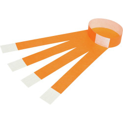 Rexel Wrist Bands With Serial Number Fluro Orange Pack Of 100