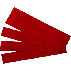 Quartet Magnetic Strips 22x150mm Red Pack of 25