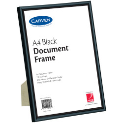 Carven Certificate Frame A4 Wall Mountable Black