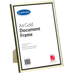 Carven Certificate Frame A4 Wall Mountable Gold