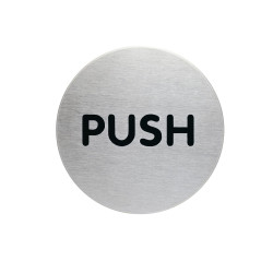 Durable Pictogram Sign Push 65mm Silver
