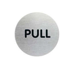 Durable Pictogram Sign Pull 65mm Silver