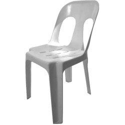 Pipee Stacking Plastic Chair Indoor or Outdoor Use 150kg Load Rated Grey Polypro