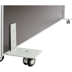 Rapid Desk Divider Screen Set of 2 to Allow Screen To Be Freestanding Silver Gre