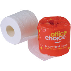 Office Choice Toilet Paper Rolls 2 Ply Carton of 48