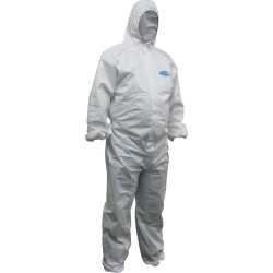 Maxisafe Koolguard Coveralls Disposable Laminated White Extra Large