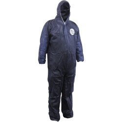Maxisafe Chemguard Coveralls Disposable SMS Blue 3X Large