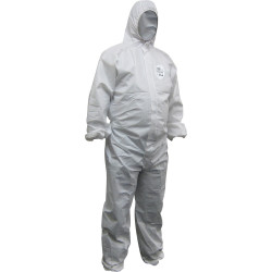 Maxisafe Chemguard Coveralls Disposable SMS White 2X Large