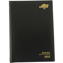 Office Choice Business Diary Week To View A5 Black