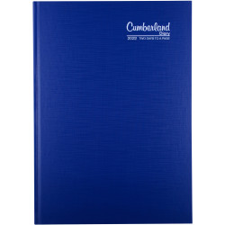 Cumberland Premium Diary 2 Days To Page A4 Blue