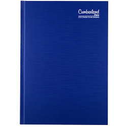 Cumberland Premium Diary Week To View A5 Blue