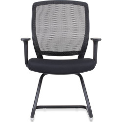 Hartley Visitor Chair Mesh Back Black Cantilever Frame With Arms Black Fabric Se