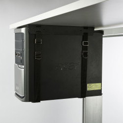 Fixed Strap CPU Holder Holds up to 20kg CPU Tower Black