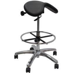 Werk EXR High Saddle Chair Height Adjustable With Foot Ring Black