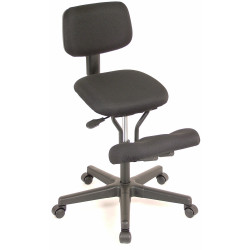 Qdos Kneeling Chair With Back Support Black